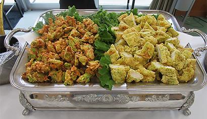 白身の天ぷらと空豆のかきあげ